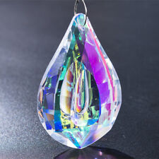 Colorful Glass Crystal Loquat Shape Chandelier Prisms Hanging Drops Pendant 76mm