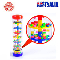 1X Colorful Rainmaker Rain Stick Tube Shaker Novelty Toddler Percussion Toys