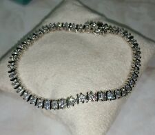 Ross Simons sterling silver clear round cz S style Tennis Bracelet NWOT