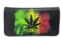 Tobacco Case Pouch Synthetic Leather Pouch Rolling Smoke Black Jamaica Reggae