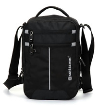 "Mens Swiss Small Messenger Shoulder Bag For 9.7"" 11"" Tablet Black Crossbody Bag"
