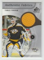 [67474] 2005-06 SP GAME USED AUTHENTIC FABRICS TOMAS VOKOUN #AF-TV