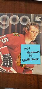 1974-75 ATLANTA FLAMES @ CHICAGO BLACKHAWKS OPENING GAME PROGRAM MIKITA ESPOSITO