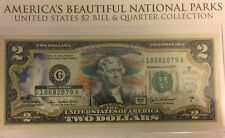 USA Two Dollar Bill Yellowstone National Park Bank Note Uncirculated