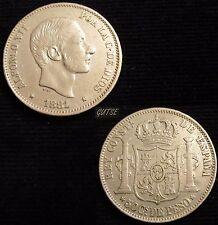 *GUTSE*214-ALFONSO XII, 50 CENTAVOS DE PESO 1881, FILIPINAS, EBC-