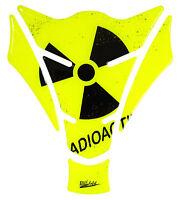 Tankpad 3D 501880 Radioactive Neon Gelb universell passender Motorrad Tankschutz
