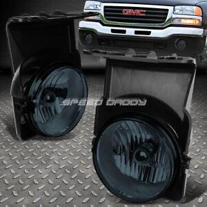 FOR 03-06 GMC SIERRA 1500 2500 HD 3500 SMOKED LENS BUMPER DRIVING FOG LIGHT LAMP