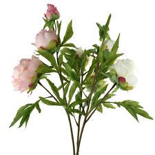 Blooming Silk Peony Spray Branch, 28-Inch