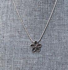 "SILPADA Sterling Silver Flower Pendant Choker Necklace MARKED 15"" A05"