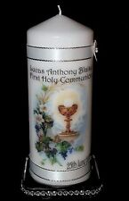 "Cellini Candles Personalised Holy Communion Chalice 8"" Candle Gift Keepsake #1"