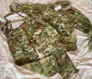 2-teil.Set orig US ARMY OCP SOFT SHELL Jacket & Pants Multicam Scorpion L-R NEU
