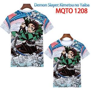 Women Tops Anime Print Demon Slayer Kimetsu no Yaiba Short sleeve T-shirt Unisex