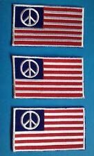 3 Lot 1970's Biker Vest Hippie Jean Jacket Backpack Patches Peace Usa Flag B