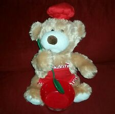Avon HOLLY THE BAKING BEAR Animated Plush How to Make Gingerbread Cookies 2013