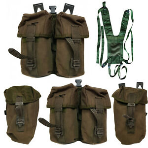 British Army Webbing IRR PLCE Pouch Yoke Carrier Water Canteen Ammunition Olive