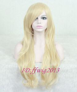 Wind Goeniko Long Cosplay wig blonde wavy hair party Full Wig +a wig cap