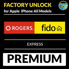 PREMIUM FACTORY UNLOCK SERVICE ROGERS FIDO IPHONE 7/SE/6S/6/5S/5C/5 ALL IMEI