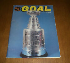 1989 GOAL PROGRAM PENGUINS vs FLYERS - STANLEY CUP PLAYOFF ISSUE