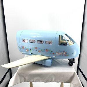 Vintage Mattel Barbie Doll Blue Jumbo Jet Airplane Plane 1999