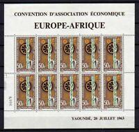 10555) Mauretanien 1963 Scott # C28 Ms MNH Europa Afrique Thin On Margin