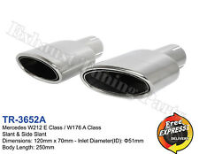 Exhaust tips tailpipes trims for Mercedes W212 E Class / W176 A Class