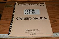 Land Pride 25 Series Rotary Cutter Owners Manual 312 299m