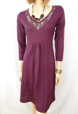 TOGETHER Burgundy Wool Blend Beaded Dress Sz 38 BNWT