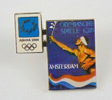 Athens Olympic Games 2004 Pin Badge - Official Poster - Amsterdam 1928 - Trofe