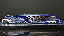 SLEDSTER CANDY BLUE FLAMES CUSTOM CREW TRACTOR TRAILER