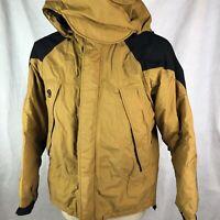 MOUNTAIN HARDWEAR Coat Jacket Ski Snow Hood Conduit Sz S Gold Mustard