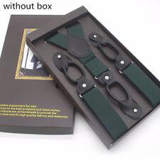 Man's Suspenders 6 Button Brace Strap Classic Elegant Suspender Men Accessories