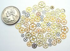 60 pieces of vintage watch small tiny brass & steel gears wheels Steampunk parts