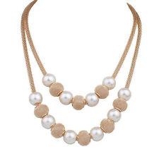 Fashion Jewelry Chunky Statement Bib Pendant Multilayer Chain Choker Necklace UK