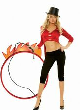 Ringmaster fancy dress costume Circus Lion Tamer Womens Top Trousers Whip Ladies
