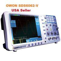 "Owon SDS6062-V 60MHz 2Ch 8"" Memory Digital Storage Oscilloscope+VGA+Battery"