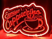 "Espresso Cappuccino Cafe Coffee 3D Neon Sign Beer Bar Gift 14""x10"" Light Lamp"