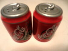 COCA-COLA CERAMIC REFRESHMENT CAN SALT & PEPPER SHAKERS NEW