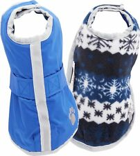 "NWT Zack & Zoey Noreaster Blanket Coat for Dogs, 20"" Large, Blue"