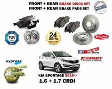 FOR KIA SPORTAGE 1.6 1.7 CRD 2010-> FRONT + REAR BRAKE DISCS SET + DISC PADS KIT