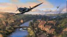 Trudgian D-Day Spitfire print Normandy Breakout signed Battle of Britain pilots