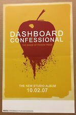 DASHBOARD CONFESSIONAL  Rare 2007 PROMO POSTER of Shade CD USA Never Displayed