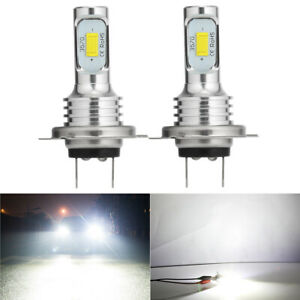 2X H7 LED Headlight Bulbs Conversion Kit Super High/Low Beam 4000LM 6000K White