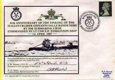 HMS URGE-SINKS ITALIAN GIOVANNI D.BANDE NERE - 45TH ANN