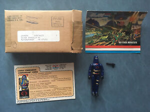 1984 Gi Joe Hooded Cobra Commander Figure French Canada File Card Mail Away Box