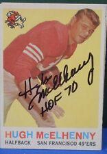 HUGH McELHENNEY signed 1959 Topps football card # 5 SAN FRANCISCO 49ERS