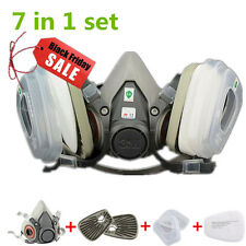 Suit half Face For 3M 6200 Gas mask Spray Painting Protection Respirator 7 in 1