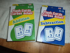 New Teaching Tree Brand Math Flash Card Sets, 52 Ea Addition, Subtraction