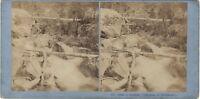 Pont Spagna Cauterets Francia Foto Stereo Vintage Albumina Ca 1868
