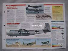 Aircraft of the World Card 33 , Group 12 - DFS 230