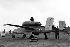 B&W WWII Photo Captured German Luftwaffe  Heinkel He162 WW2 World War Two